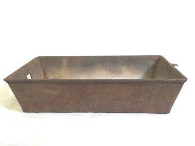 Vintage Rusty Metal Drawer Tray Industrial Filing Farm House Home Decor