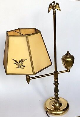 Mid Century Brass Table Lamp Eagle Electric Desk Small Victor Light Vintage