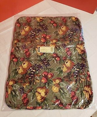 Longaberger Set 2 Quilted Orchard Placemats NIP
