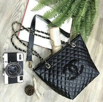 a65d17e7fc180c Chanel Precision Vip Gift quilted Makeup Tote Bag & terry cloth headband
