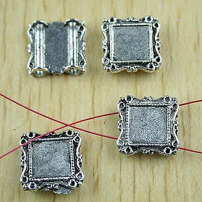 15//34pcs Sets Tibetan Silver Clasps Findings and 23x17mm Lead-free