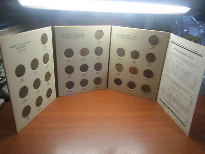 Half Penny Set 30 Coins Collection Copper New Zealand Bulk 1940 TO 1965