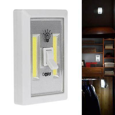 COB Wall Lamp Switch LED Battery Powered Garage Cabinet Closet Lamp Emergen O8W5