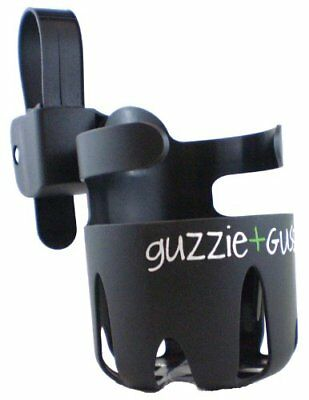 Guzzie + Guss Universal Cup Holder with Strap Black for Strollers