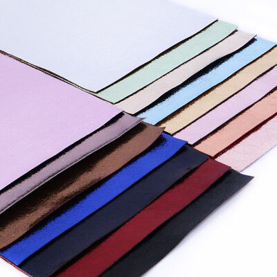 A4 Lichi Texture Foil Faux Vinyl Leather Fabric Sheets DIY Handmade Bows Craft