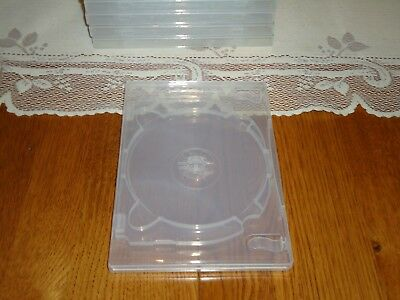 NEW 3-Disc Premium QUALITY Clear 14mm DVD Case, Holds 3 DVD or CD or Blu-ray