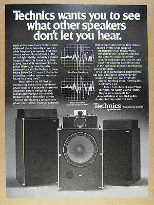 1977 Technics Linear Phase Speakers SB 7000A 6000A 5000A vintage print Ad