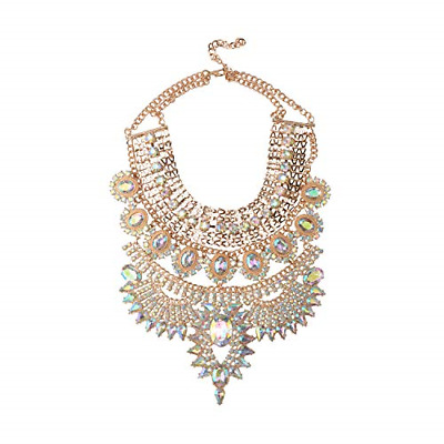 Holylove Crystal Statement Necklaces Pendant Collier Collar Choker Big Vintage