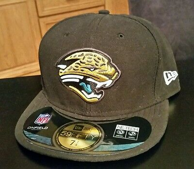 official photos 0782f 73cea NWT NFL Jacksonville Jaguars Fitted 5950 59fifty New Era Hat Cap Size 7 1 4