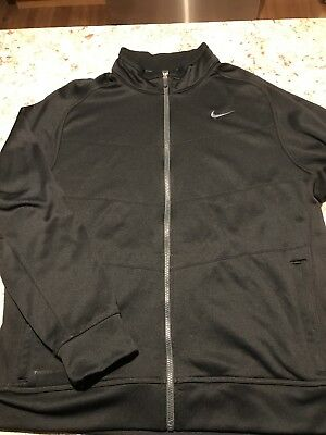 Clothing, Shoes & Accessories Activewear Nwot Nike Therma Fit Fleece Lined Running Jacket Size Xl Black Silver