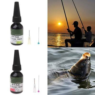 UV Glue Fly Fishing Thick/Flow Flies Binding Clear Finish Instant Dry Cure 20ml