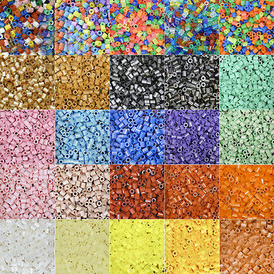 AU_ 1000Pcs 5mm Perler Beads Colorful Hama Beads DIY Educational Toys Kid Sanwoo