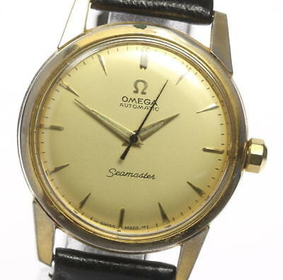 Omega Seamaster cal.354 Half Rotor Leather Belt Men's Automatic #CO127