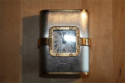 Rare Vintage Cartier Santos French Travel Alarm Clock