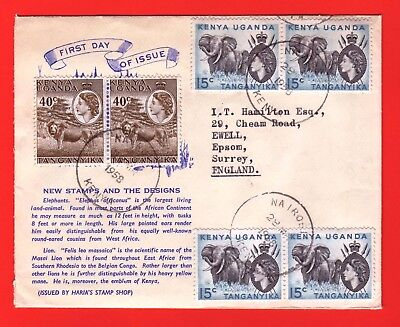 K.u.t. - 1958 -  First Day Cover Of New Issue Stamps Together With Letter