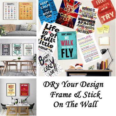 Custom Art Posters Personalised Photo Letter Canvas Print  Home Room Decor Gift