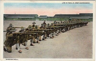 Life in the U.S. Army Cantonment, Skirmish Drill