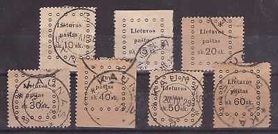 Lithuania 1919 Third Kaunas issue - Mi 20-26. Complete set. Used.