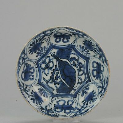 Antique Chinese 17th century Wanli Kraak plate with Leaf Wanli Ming Tianqi