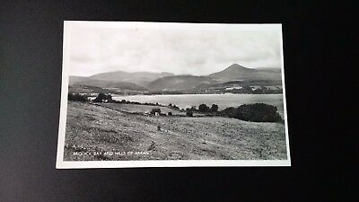 Brodick Bay & Hills of Arran Vintage Postcard