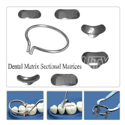 100Pcs/Pack Dental Matrix Sectional Contoured Metal Matrices Full Kit No.1.398