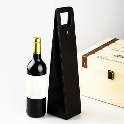 Red Wine Bottle Bag Faux Leather Luxury Bag Single Champagne Tote Carrier Cover
