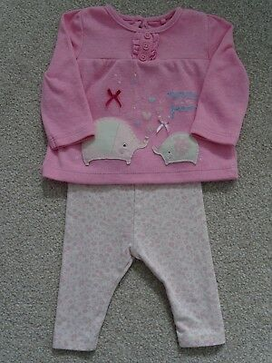 Baby Girl's Top/Leggings Outfit from TU at Sainsburys Age Newborn
