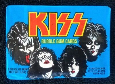 1978 KISS Unopened Pack of Trading Cards Donruss AICOIN MGT ACE GENE PAUL (#52)