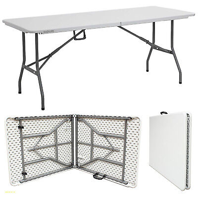 6ft White Folding Table BANQUET CAMPING PARTY GARDEN BBQ DECORATING DINING