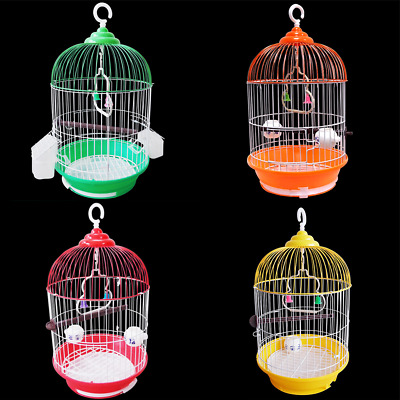 Classic Round Bird Cage With Stand Finch Canary Cockatiel Parakeet Dome Top