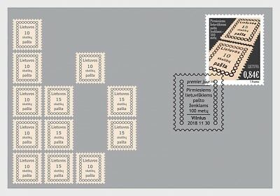 Litouwen / Lithuania - Postfris/MNH - FDC 100 years Stamps 2018