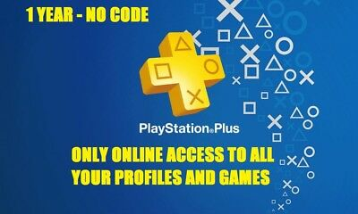 1 Year Playstation Ps Plus Read Description No Code - Ps4 365 Days 12 Months