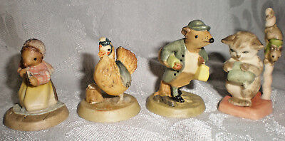 "4 Toriart Anri mini Beatrix Potter figures vntg new in boxes 1.5"" Italy Easter"