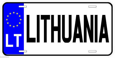 Lithuania LT Any Text Personalized Novelty Aluminum Car License Plate