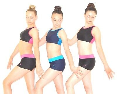 """NOW ON SALE!! - """"Duo"""" Crop Top and Shorts Set by Flick Gymnastics"""