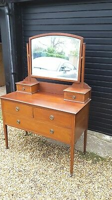 An Antique Edwardian Mahogany Dressing Table Chest