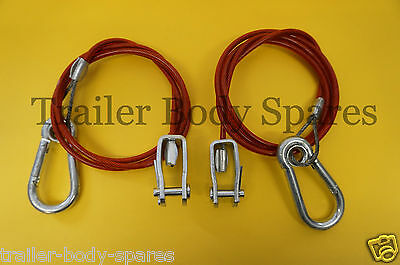 FREE UK Post - 2 x Breakaway Cable with Clevis Pin Ifor Williams Trailer