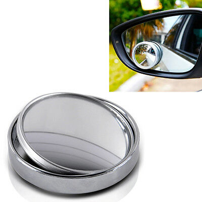 Qa_ Wide Angle Convex Car Auto Blind Spot Stick-On Side View Rearview Mirror S