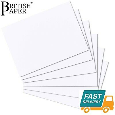 A6 A5 A4 A3 A2 WHITE CRAFT DECOUPAGE CARD MAKING PAPER SHEETS PRINTER 120 300gsm