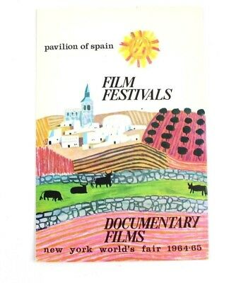 1964-1965 New York World's Fair Pavilion of Spain Film Festivals Postcard