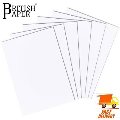 White Thick Thin Card Making A6 A5 A4 A3 A2 Paper Smooth Ream Sheet Board Stock