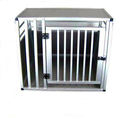 Hundebox Transportbox Aluminium 80 x 65 x 65cm Hundetransportbox Gr. M Reisebox