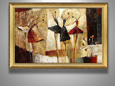 CHENPAT63 charming modern ballet art oil painting 100% hand-painted on canvas