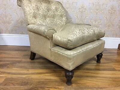 Superb Quality Antique Edwardian Howard style Country House library armchair