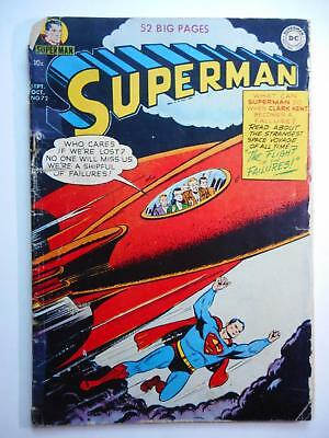 Superman #72  Fa/gd 1.5 (Dc 1939 Series)  Flight Of Failures Cover  Complete