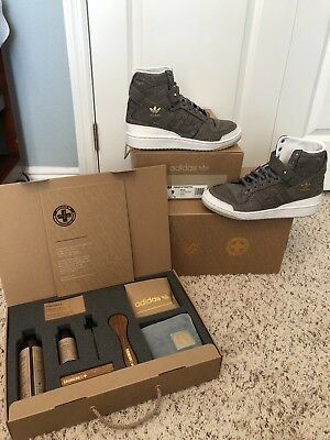 32ee35d28c9e NEW ADIDAS FORUM HI CRAFTED PACK sz 9 CHARLES F STEAD CLEANING KIT BW1253  RARE