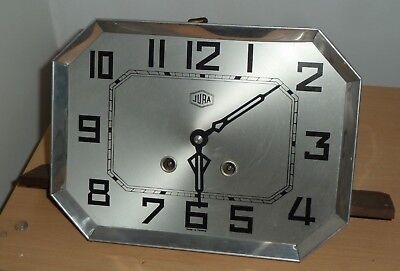 French 1930's Jura striking wall clock movement for spares