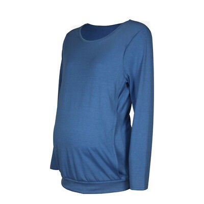 Womens Maternity Pullover T Shirt Ladies Pregnancy Casual Blouse Top Tee 8C