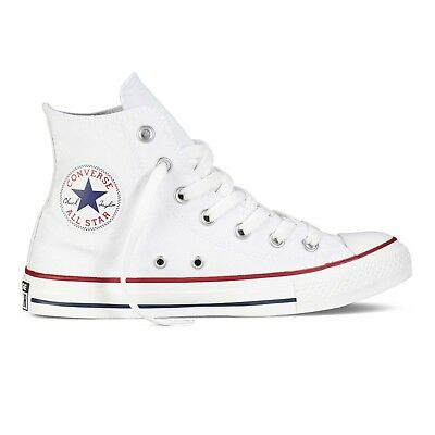 Converse M7650C Bianche Alte  Optic White Tela Classic All Star ox unisex