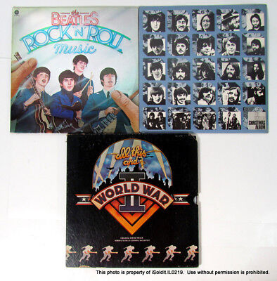 3 THE BEATLES RECORDS Christmas Album, All This and World War II, Rock 'N' Roll